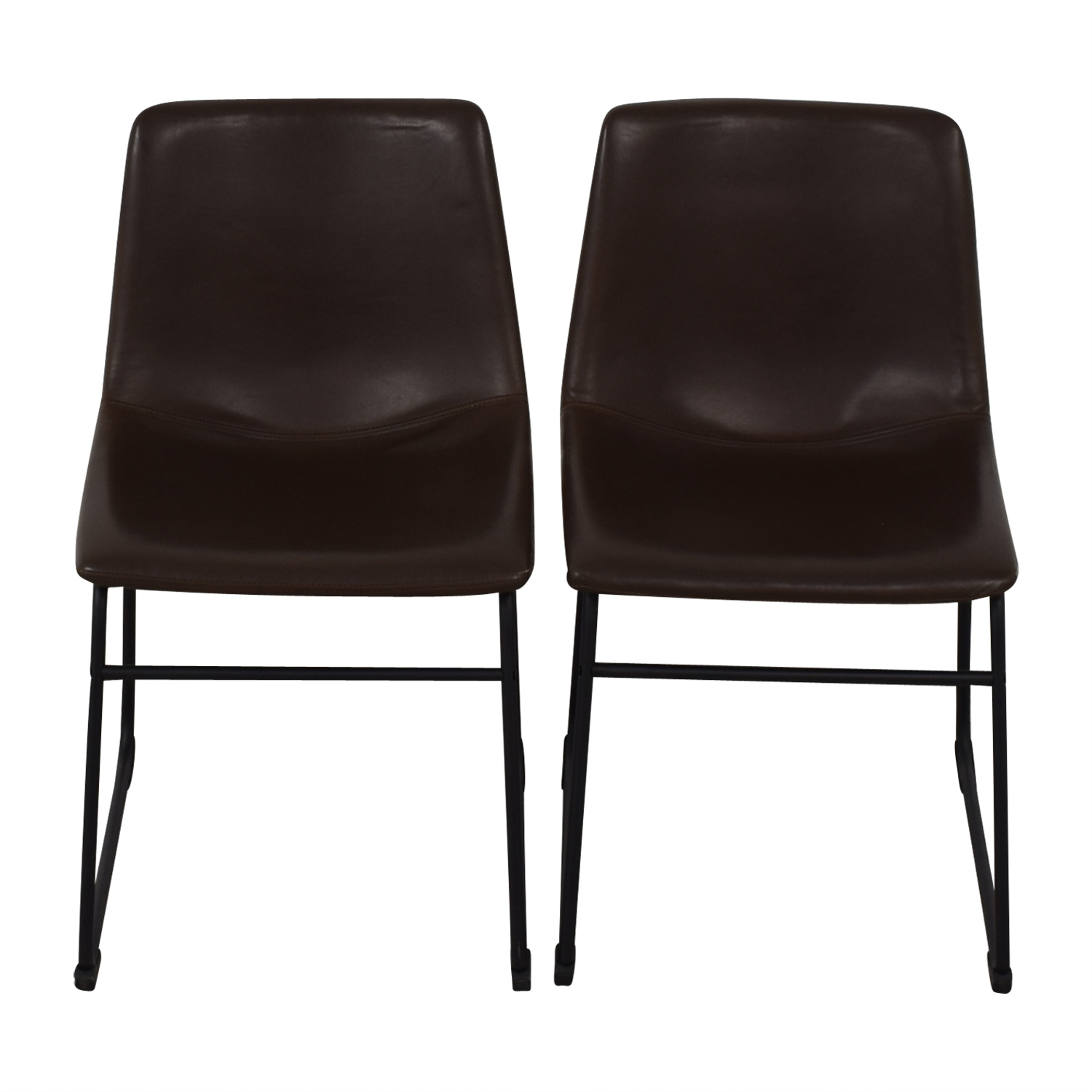 Walker Edison Walker Edison Industrial Faux Leather Dining Chairs price