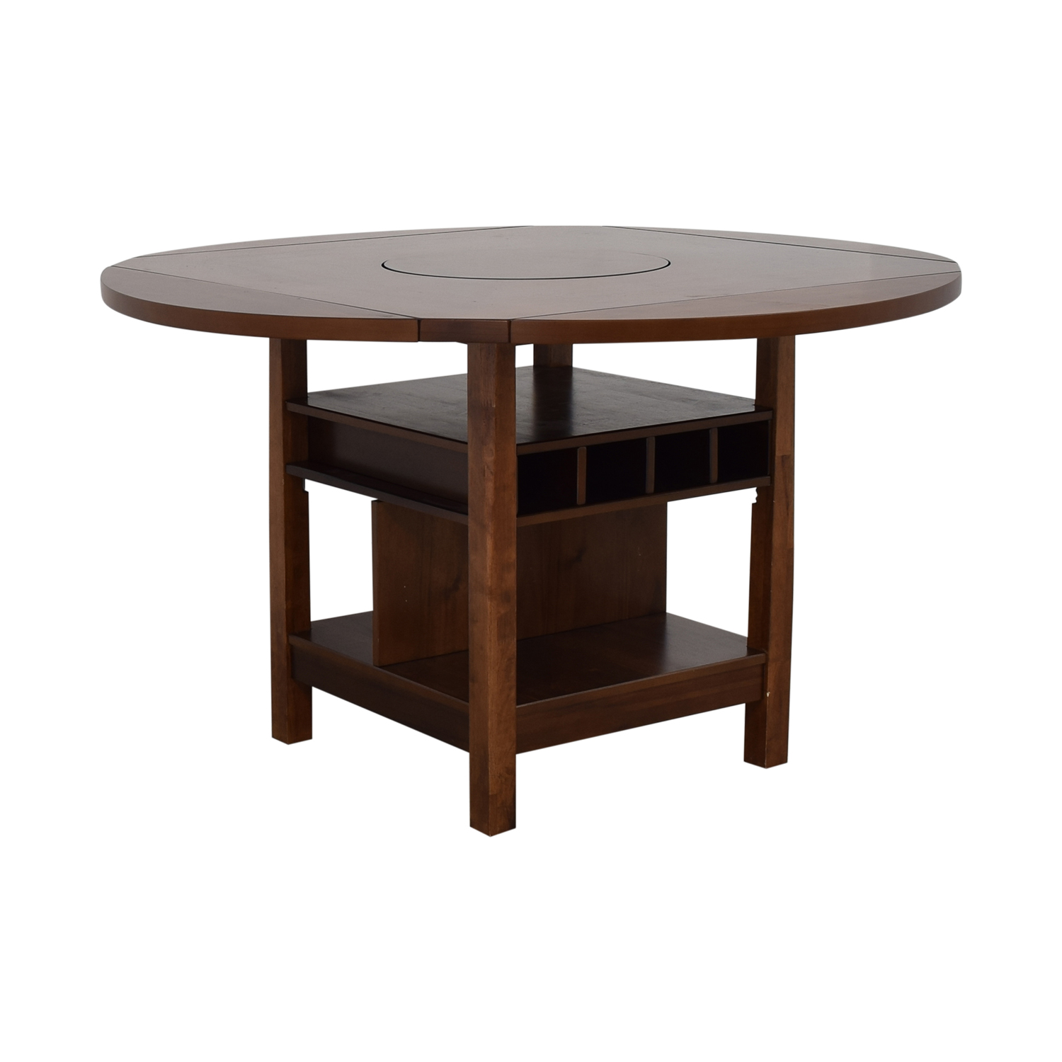 CrownMark Furniture CrownMark Conner Counter Height Table with Wine Storage Dinner Tables