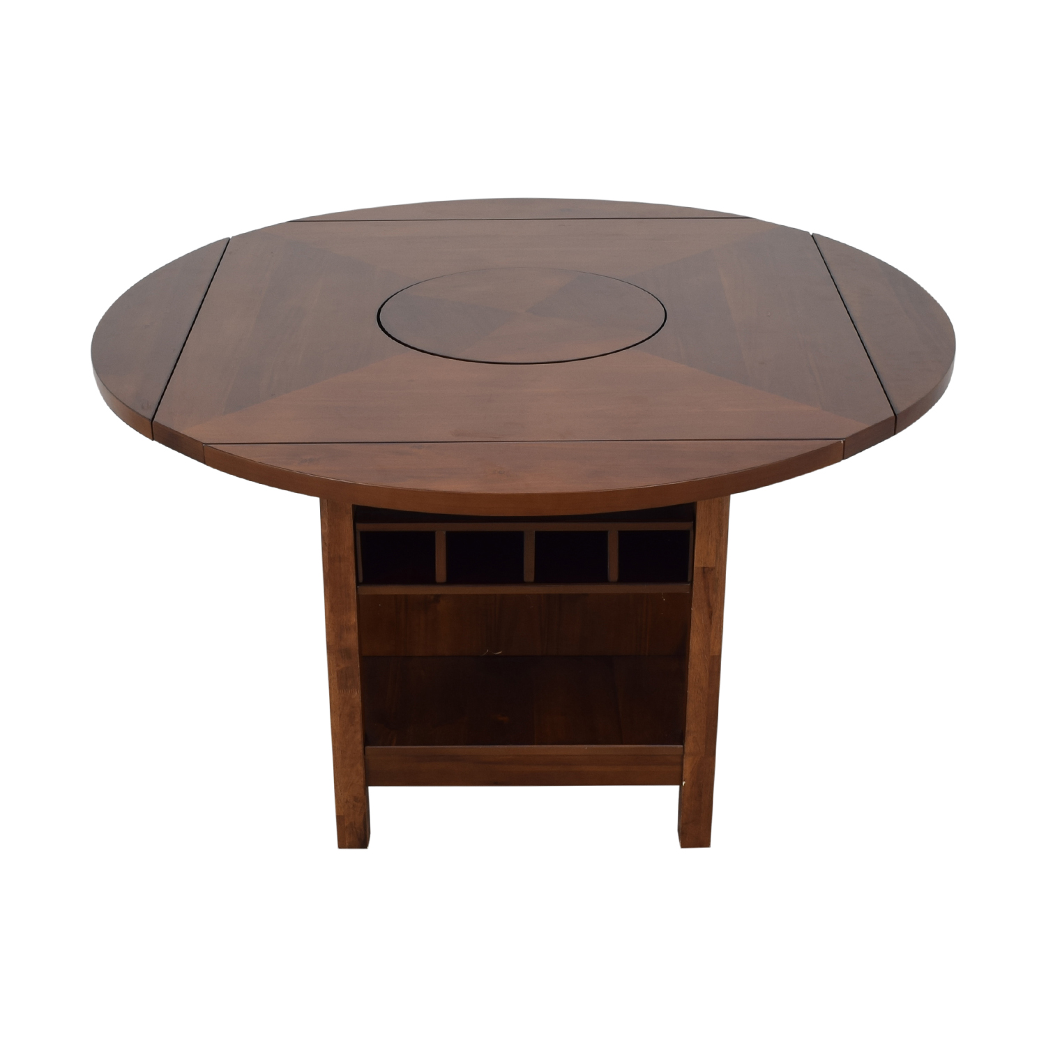 CrownMark Furniture CrownMark Conner Counter Height Table with Wine Storage dimensions