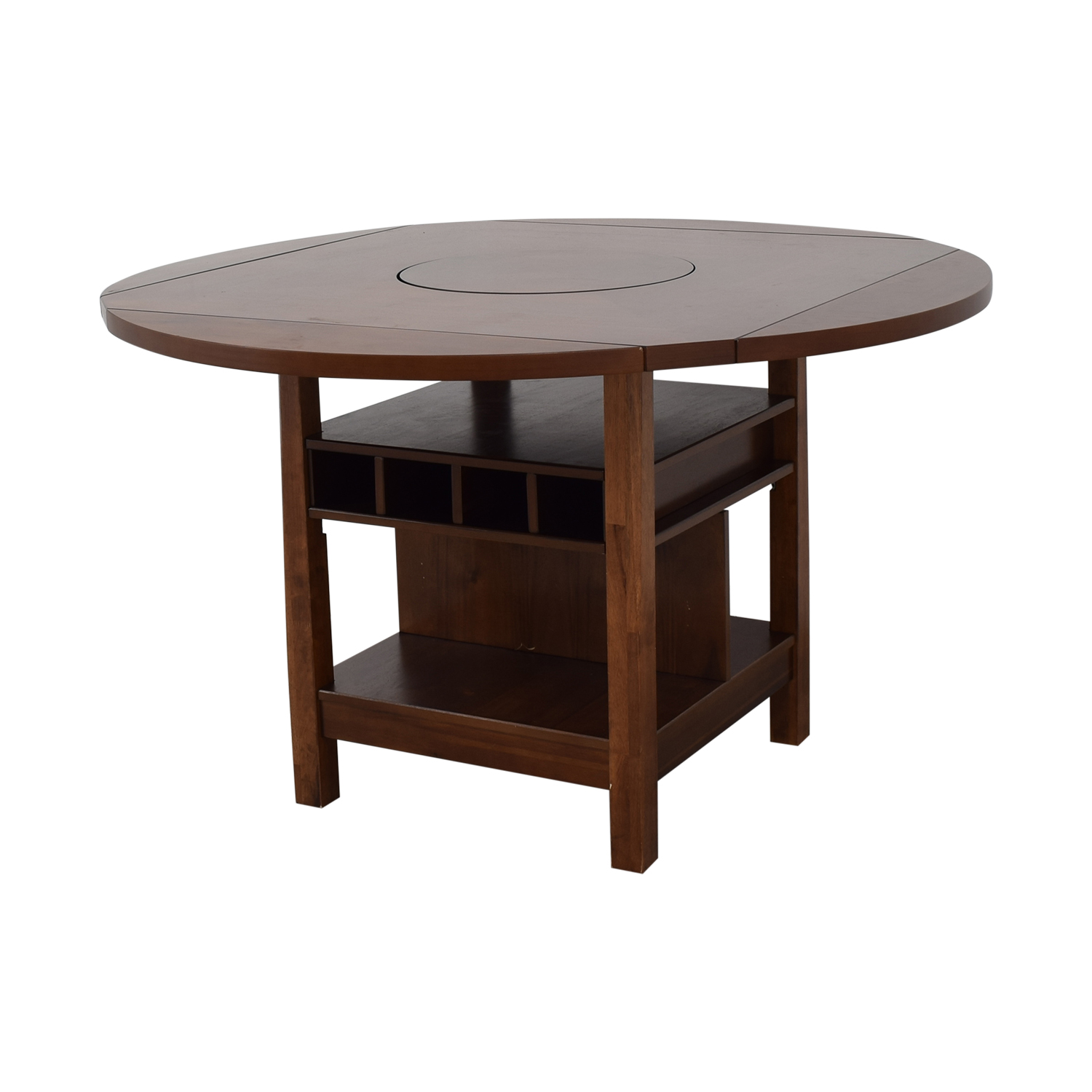 CrownMark Furniture CrownMark Conner Counter Height Table with Wine Storage Tables