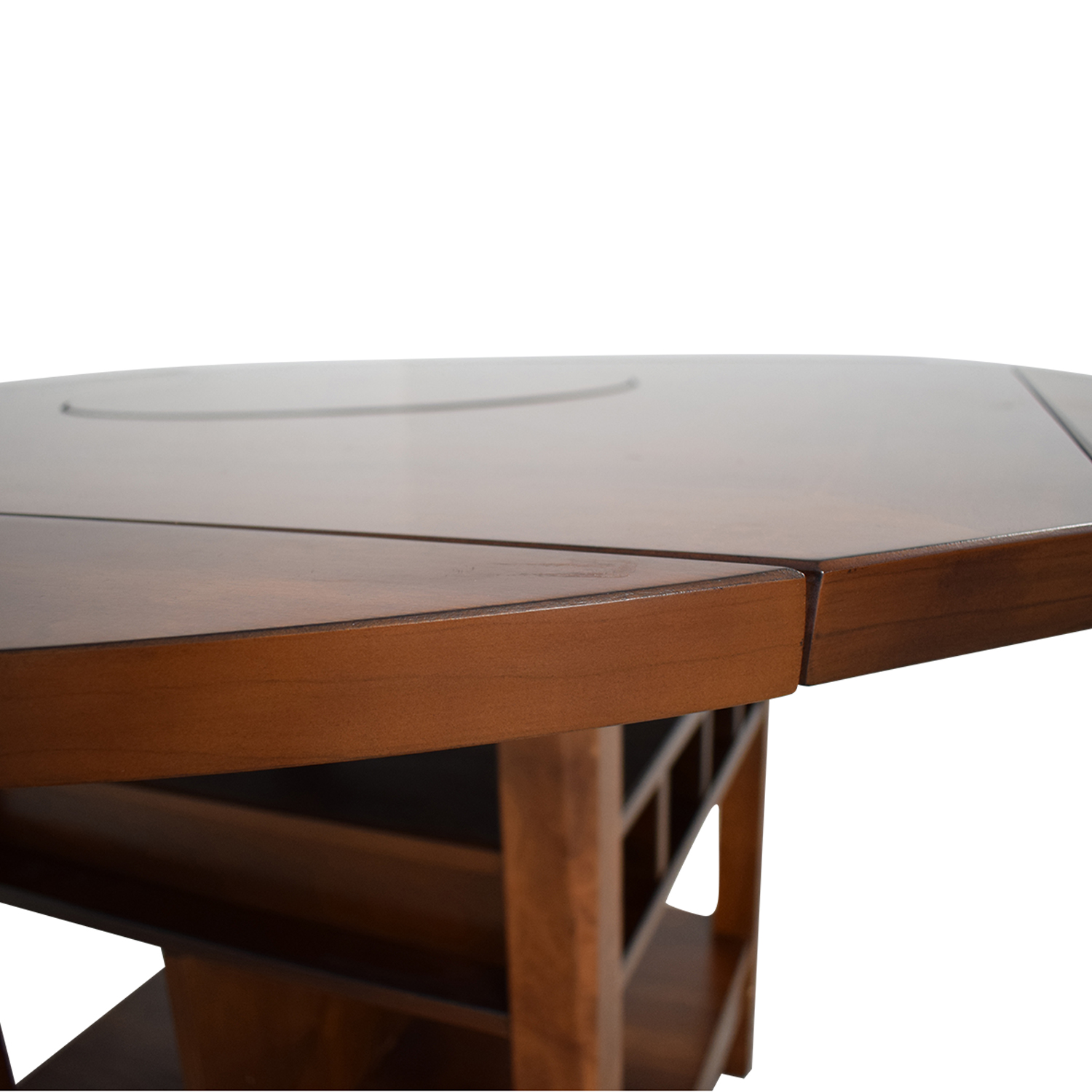shop CrownMark Conner Counter Height Table with Wine Storage CrownMark Furniture Dinner Tables