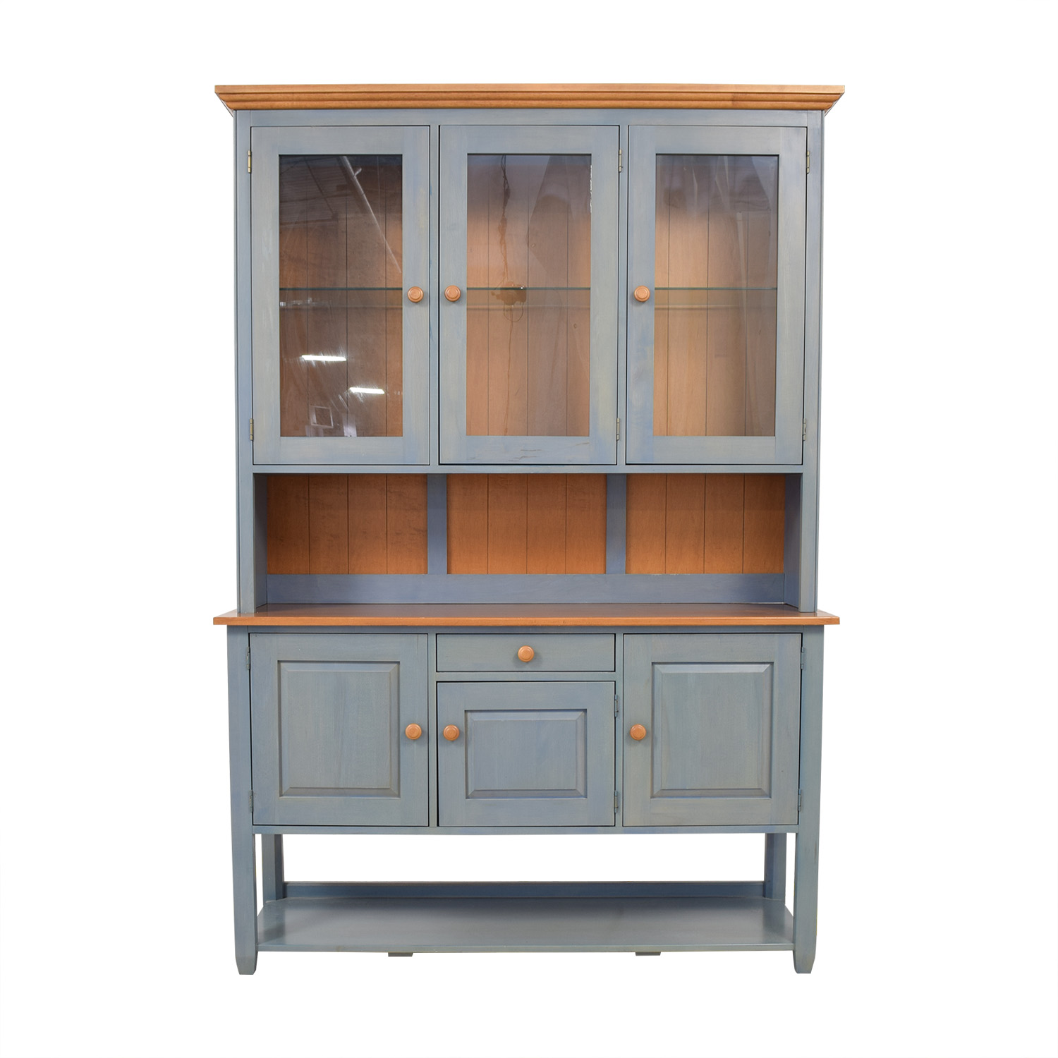 72 Off Ethan Allen Ethan Allen China Cabinet Hutch Storage