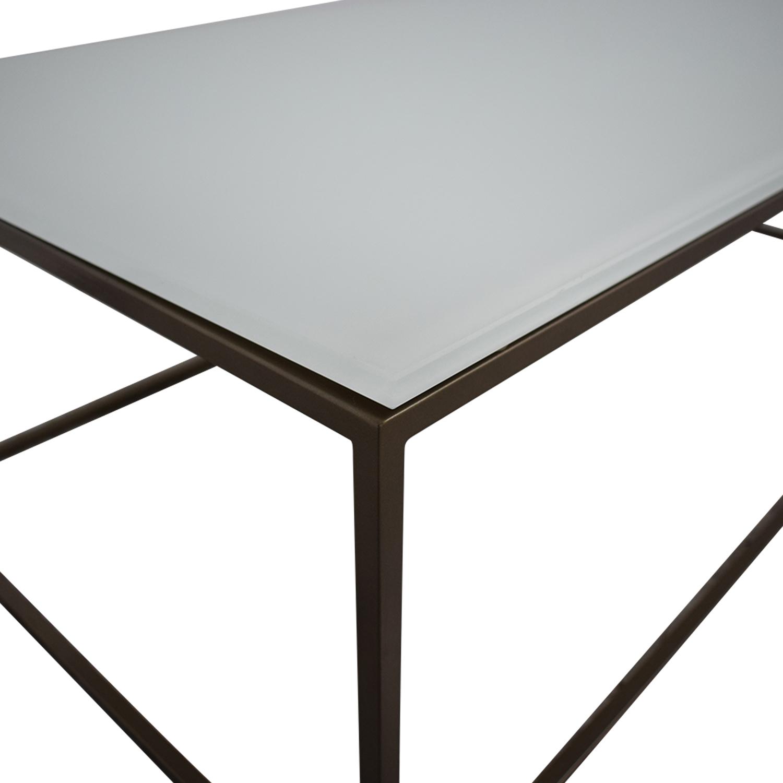 Room & Board Room & Board Tyne Coffee Table white & gold