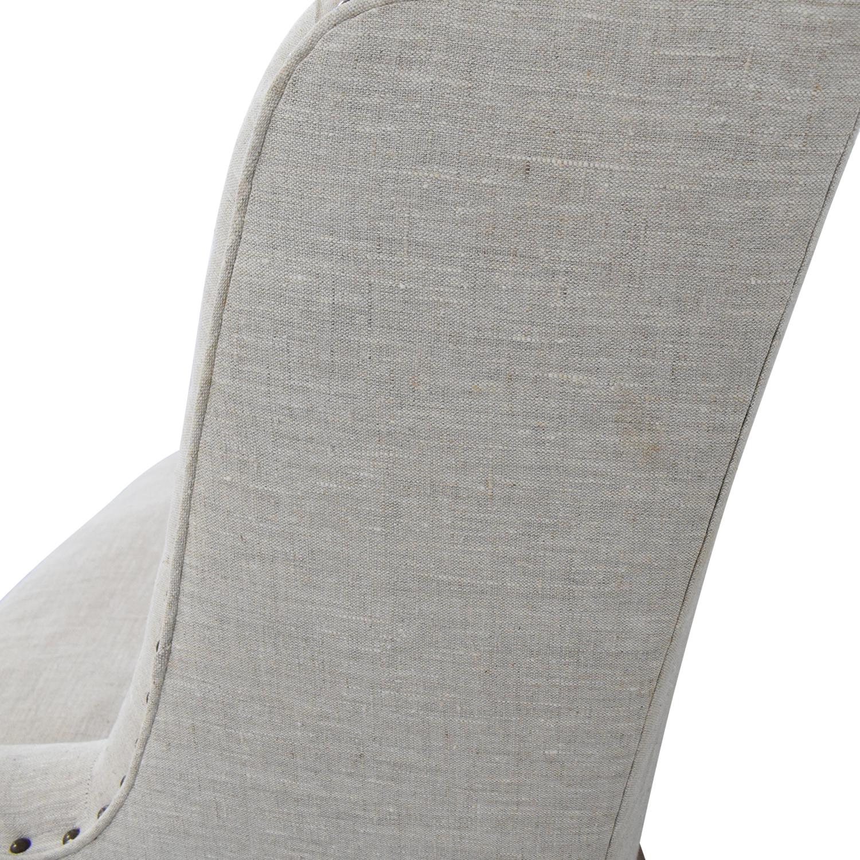Zentique Zentique Linen Upholstered High-Back Banquette Sofa dimensions