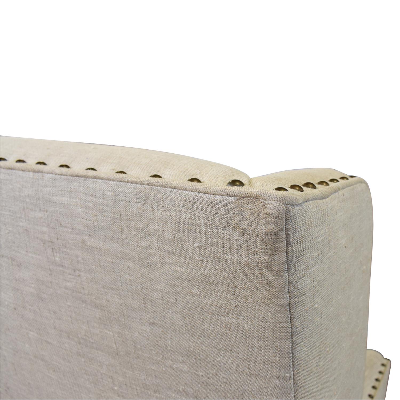Zentique Zentique Linen Upholstered High-Back Banquette Sofa Classic Sofas