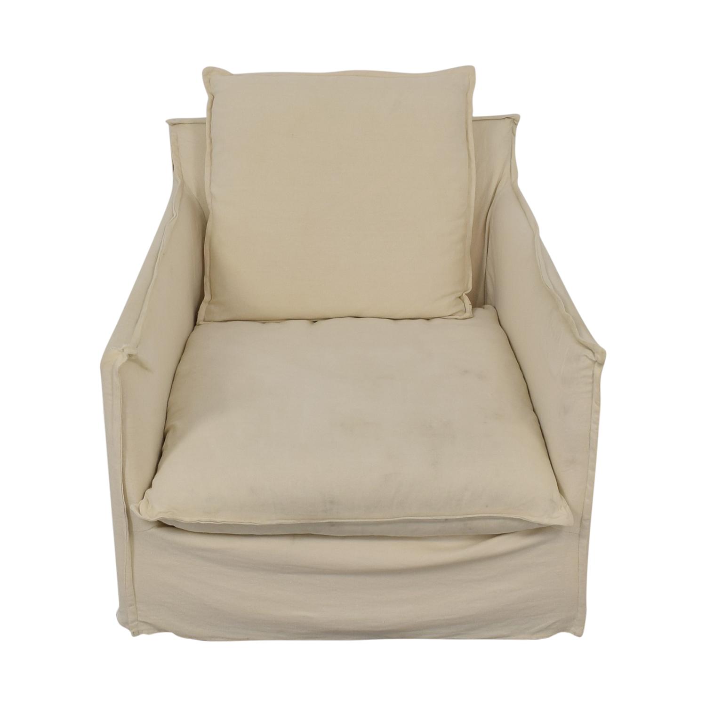 shop Crate & Barrel Oasis Linen Slipcovered Armchair Crate & Barrel
