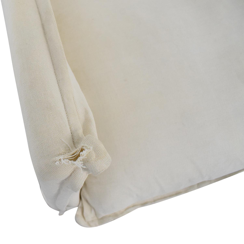 buy Crate & Barrel Crate & Barrel Oasis Linen Slipcovered Armchair online