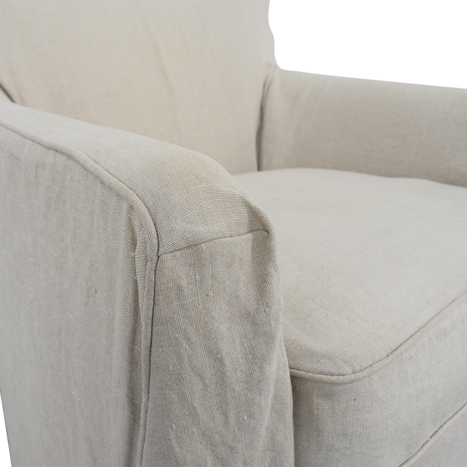 buy Crate & Barrel Linen Slipcovered Armchair Crate & Barrel