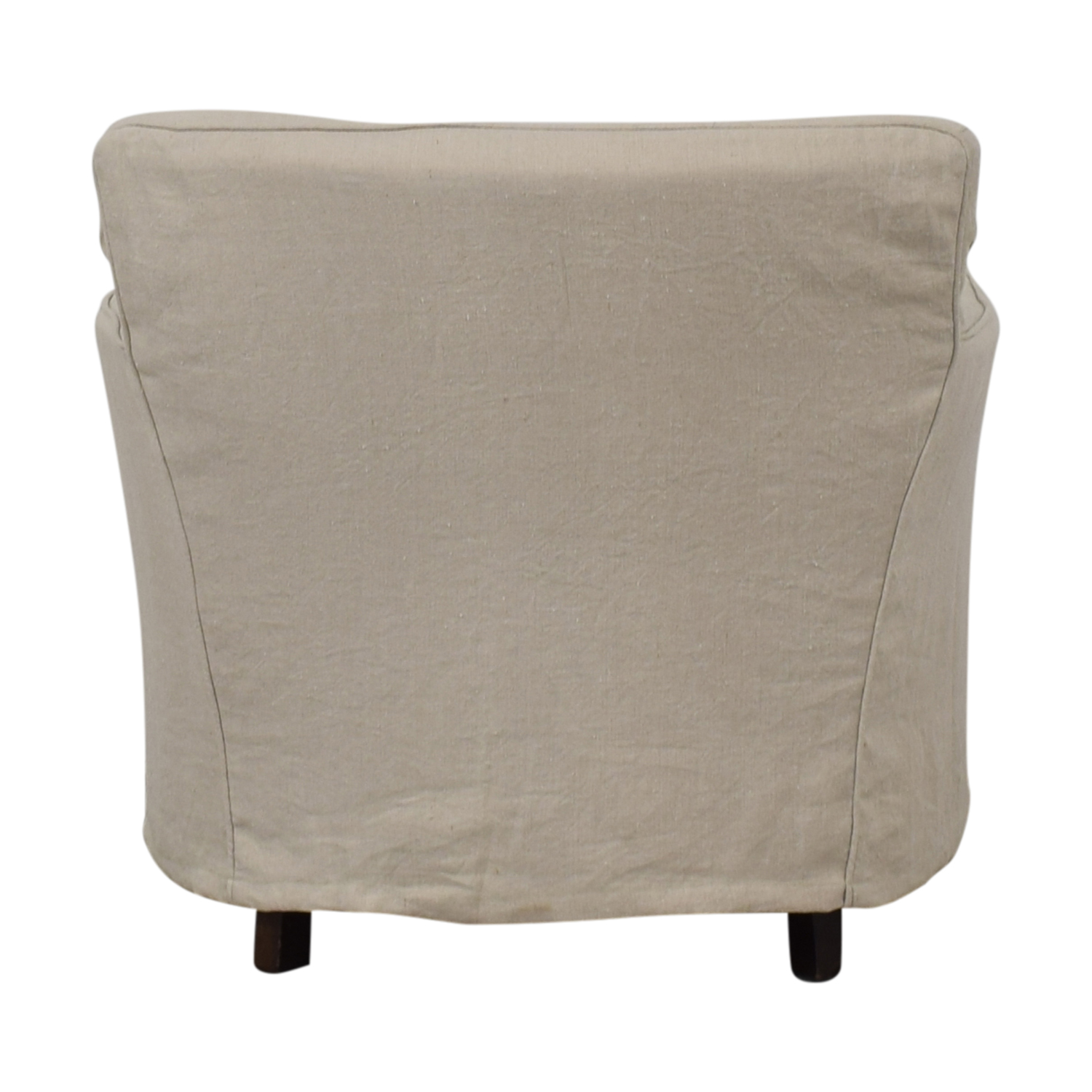buy Crate & Barrel Linen Slipcovered Armchair Crate & Barrel Chairs