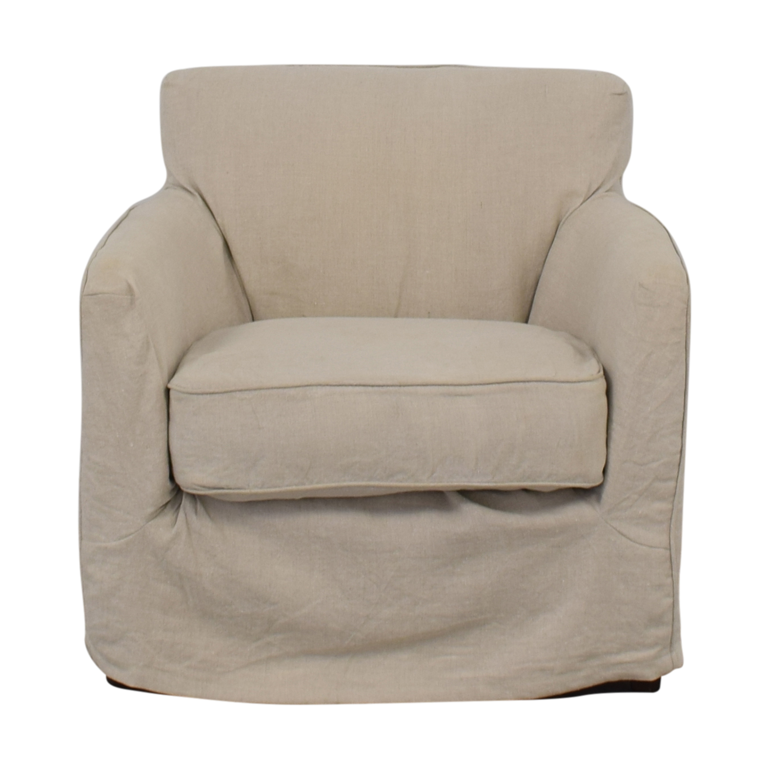 Crate & Barrel Crate & Barrel Linen Slipcovered Armchair for sale