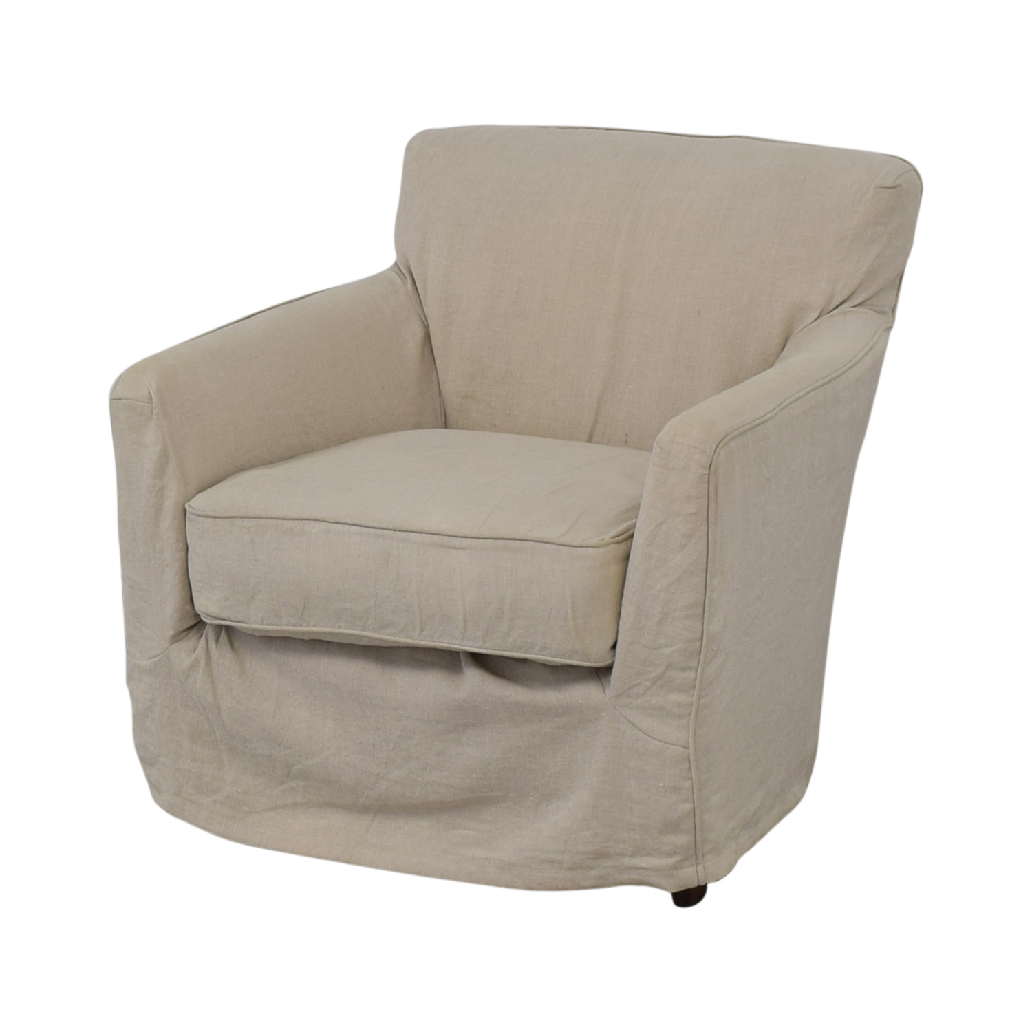 shop Crate & Barrel Linen Slipcovered Armchair Crate & Barrel