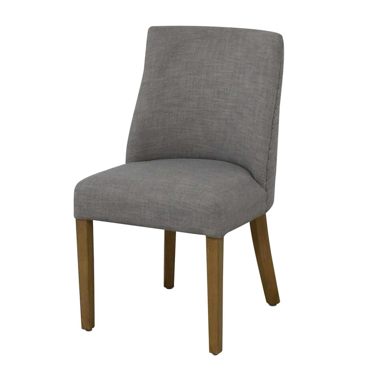 Restoration Hardware Restoration Hardware 1940S French Barrelback Fabric Side Chair Grey