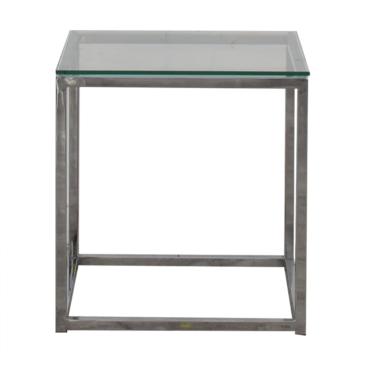 CB2 CB2 Smart Glass and Chrome Side Table Tables