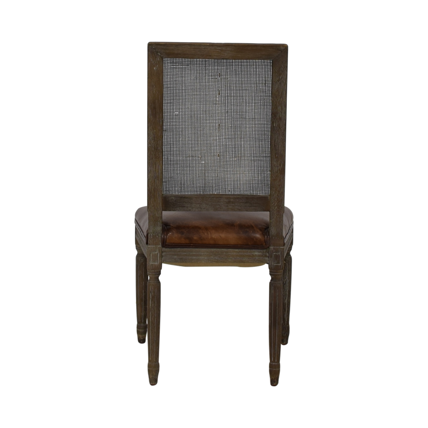buy Restoration Hardware Restoration Hardware Vintage French Square Cane Back Leather Side Chair online