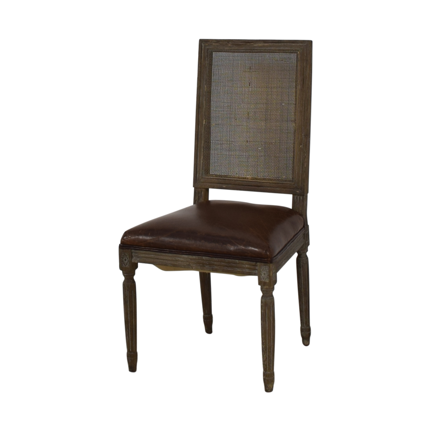 Restoration Hardware Restoration Hardware Vintage French Square Cane Back Leather Side Chair coupon