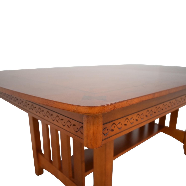 shop Vaughan-Bassett Shaker Style Trestle Table Vaughan-Bassett