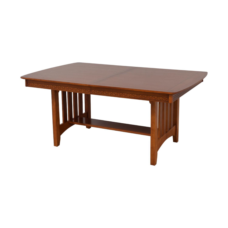 shop Vaughan-Bassett Shaker Style Trestle Table Vaughan-Bassett Tables