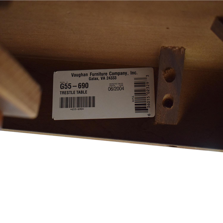 Vaughan-Bassett Vaughan-Bassett Shaker Style Trestle Table nj