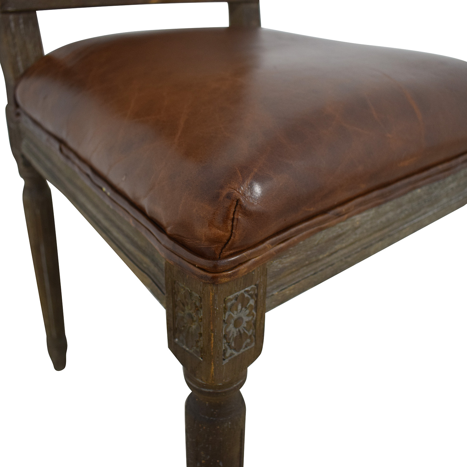Restoration Hardware Restoration Hardware Vintage French Square Cane Back Leather Side Chair Dining Chairs