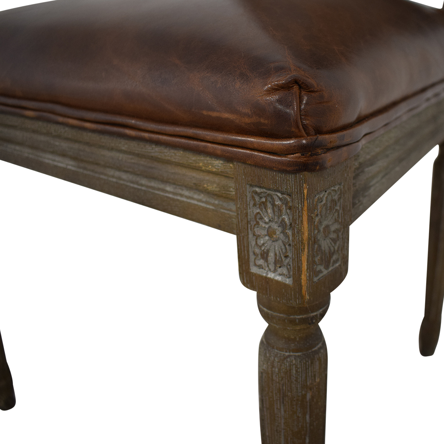buy Restoration Hardware Vintage French Square Cane Back Leather Side Chair Restoration Hardware Chairs