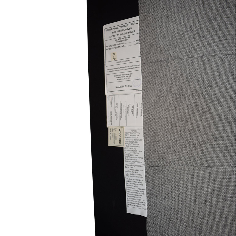 buy West Elm West Elm Grid Tufted Upholstered Tapered Leg Queen Bed online
