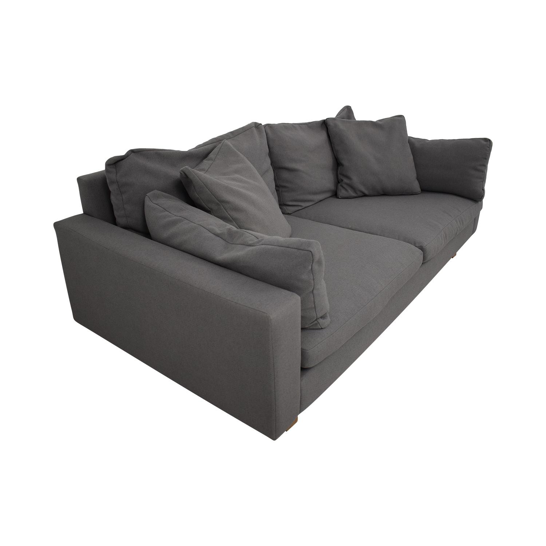 shop West Elm Down-Filled Deep Sofa West Elm Sofas