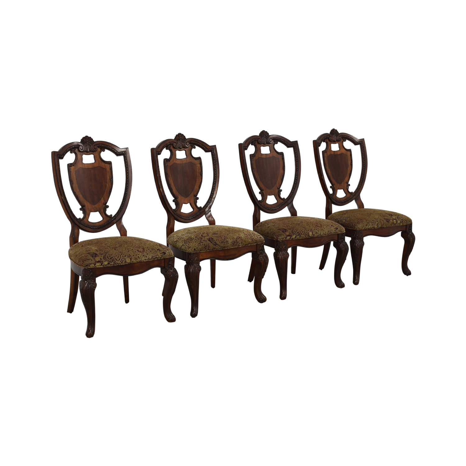 Macy's Macy's Upholstered Seat Dining Chairs brown