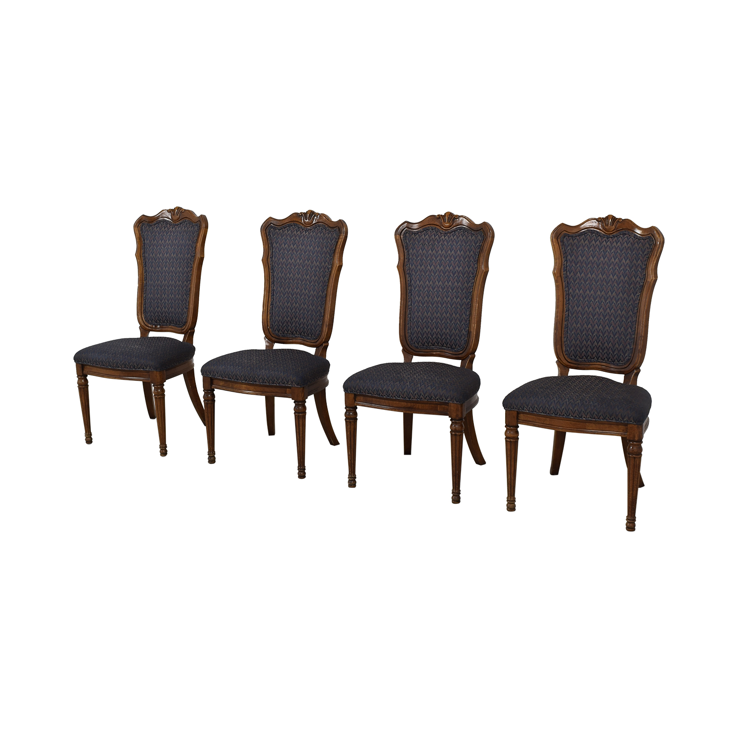 Printed Upholstered Dining Chairs used