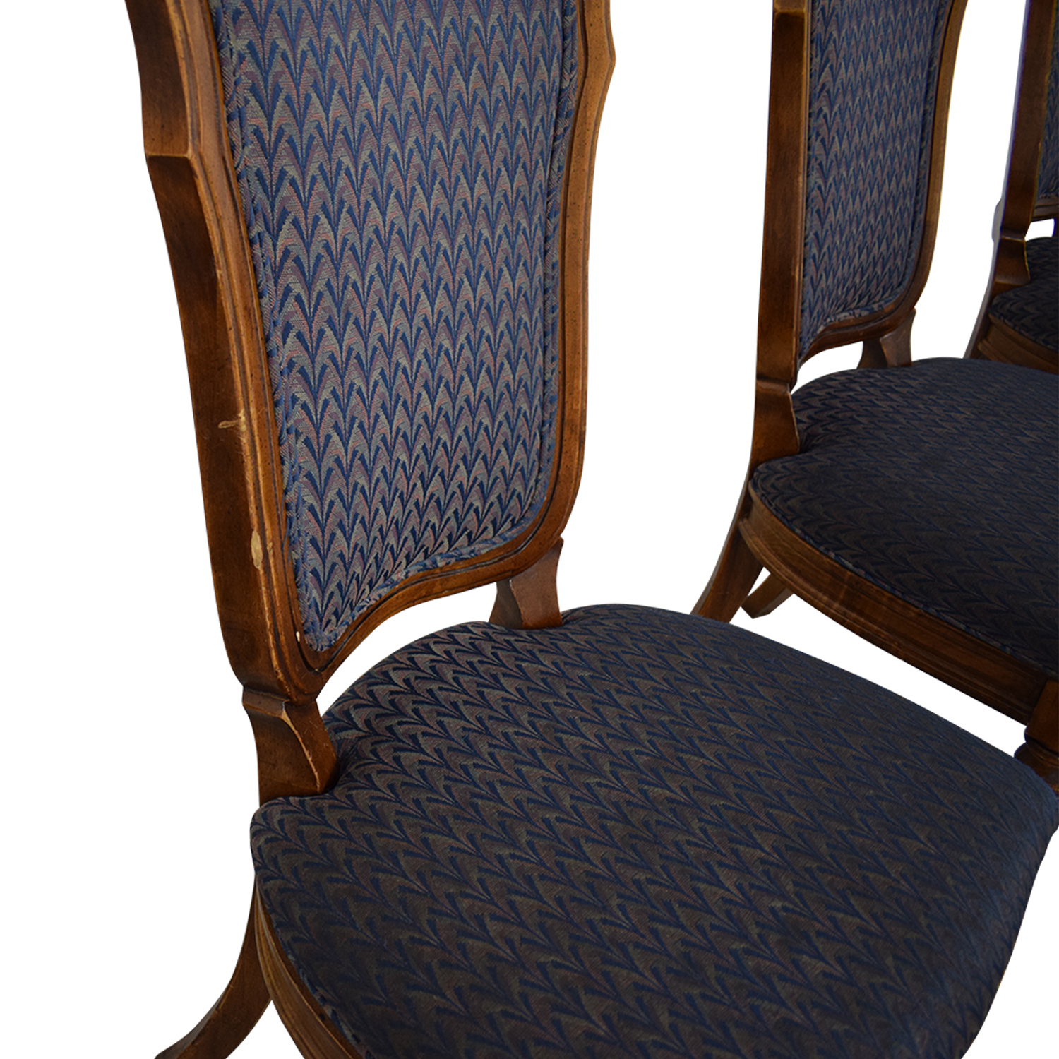 Printed Upholstered Dining Chairs