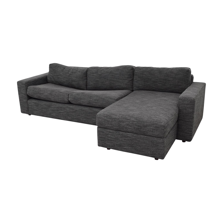 shop West Elm Urban Sleeper Sofa with Right Arm Storage Chaise West Elm Sofas
