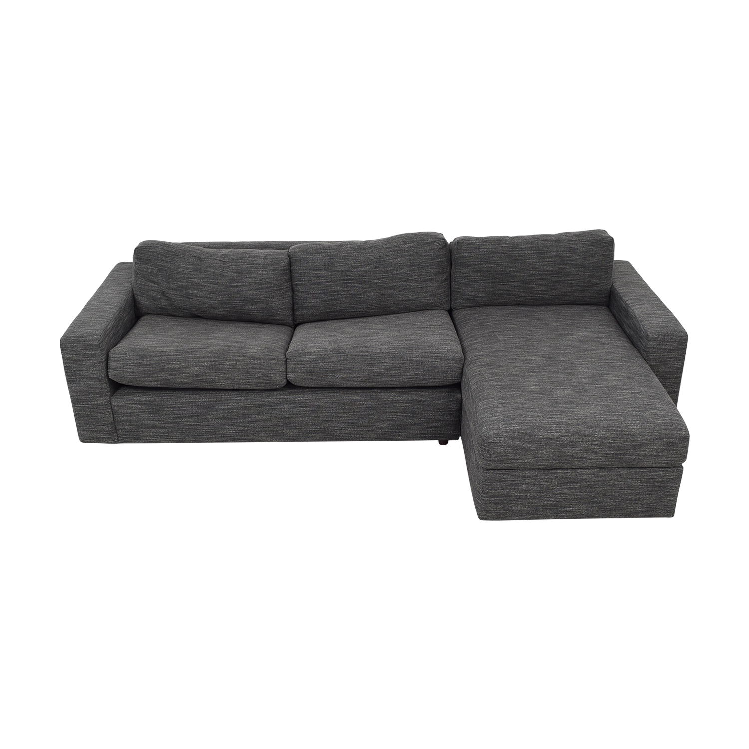 West Elm West Elm Urban Sleeper Sofa with Right Arm Storage Chaise for sale