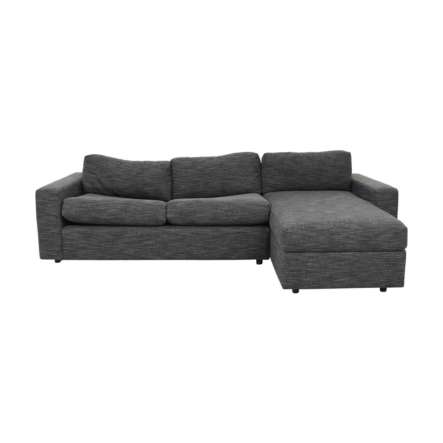 67% OFF   West Elm West Elm Urban Sleeper Sofa With Right Arm Storage  Chaise / Sofas