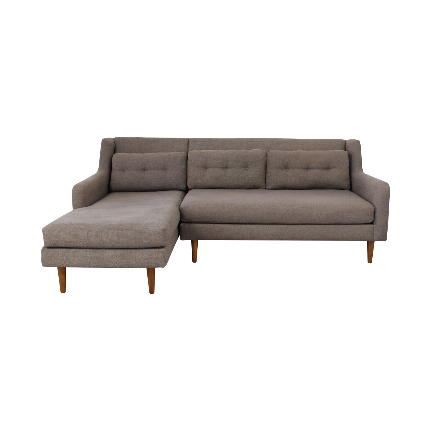 shop West Elm Crosby Mid Century Chaise Sectional West Elm Sectionals
