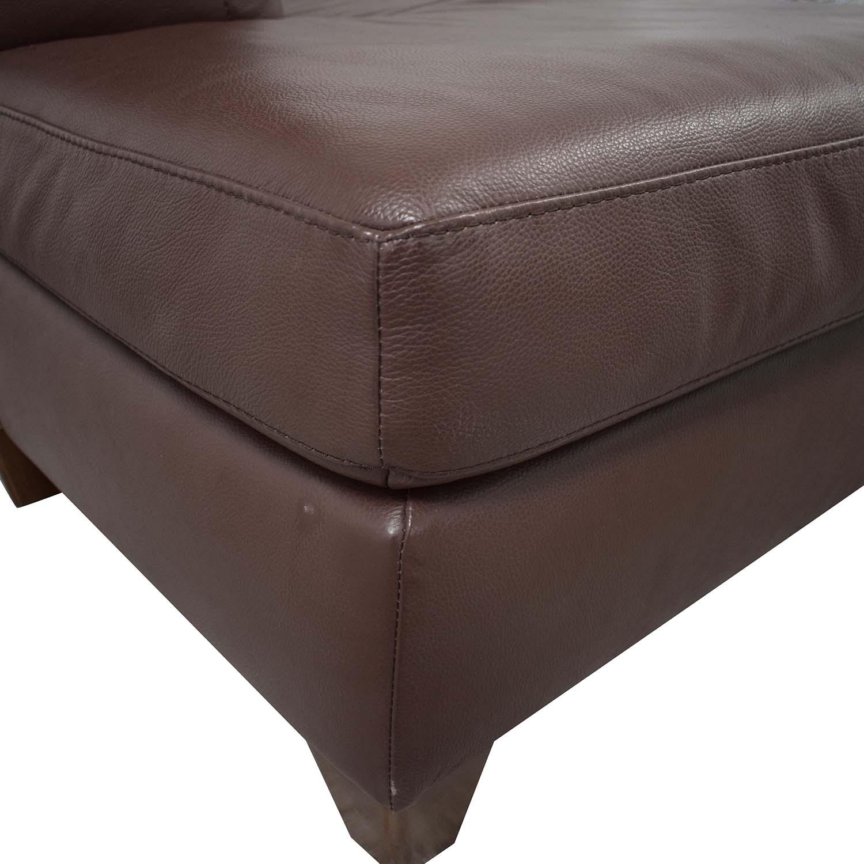 Natuzzi Natuzzi Roya Chaise Sectional Sofa Bed dimensions