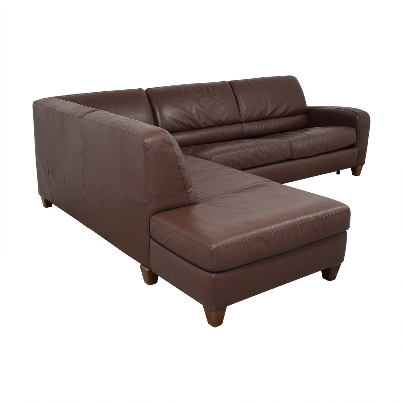 buy Natuzzi Roya Chaise Sectional Sofa Bed Natuzzi Sofas