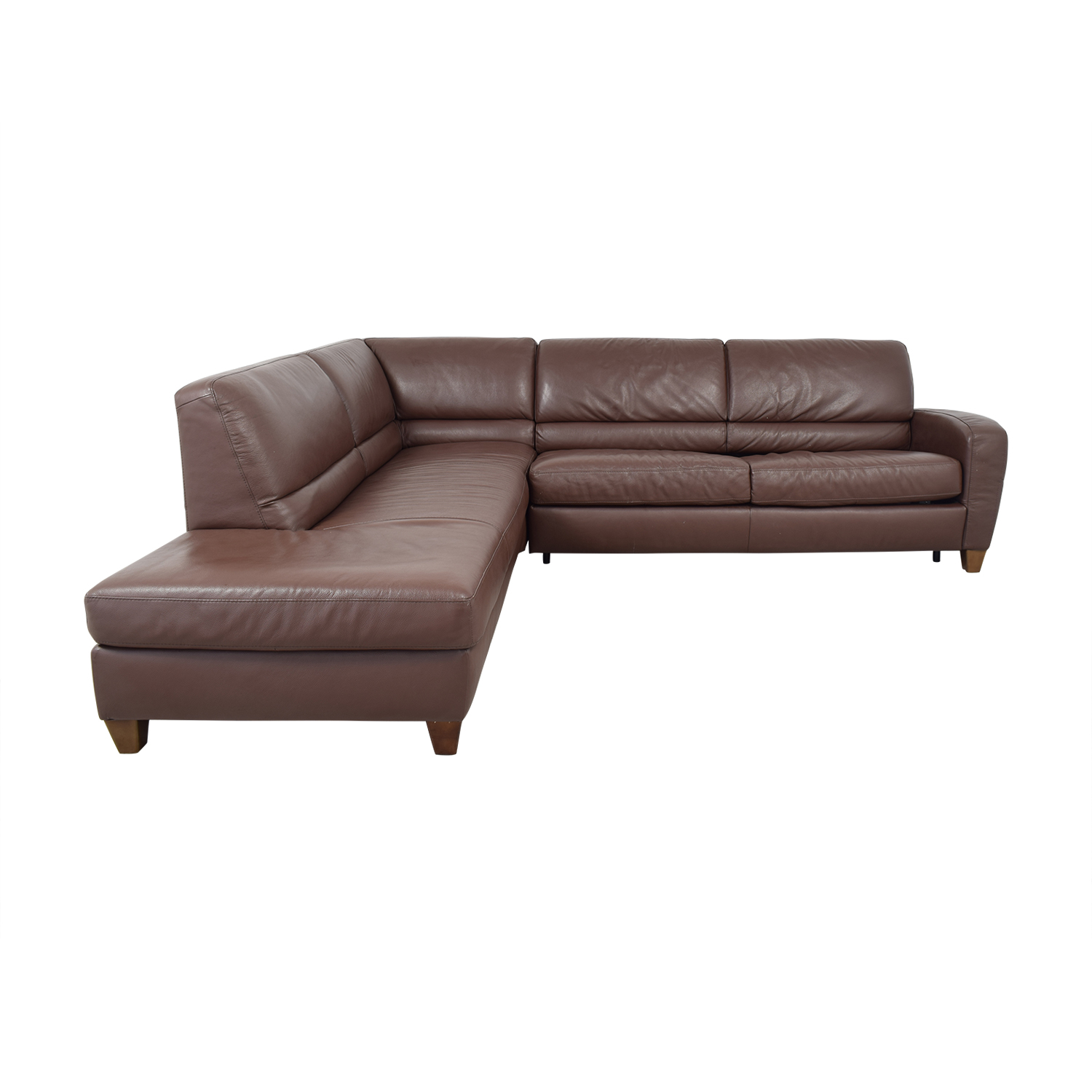 shop Natuzzi Roya Chaise Sectional Sofa Bed Natuzzi Sofas