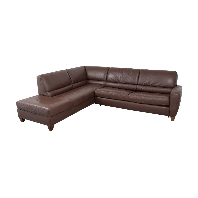 Natuzzi Natuzzi Roya Chaise Sectional Sofa Bed used