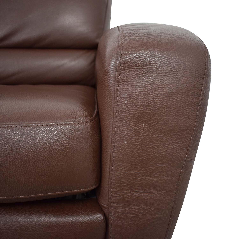 79 Off Natuzzi Natuzzi Roya Chaise Sectional Sofa Bed