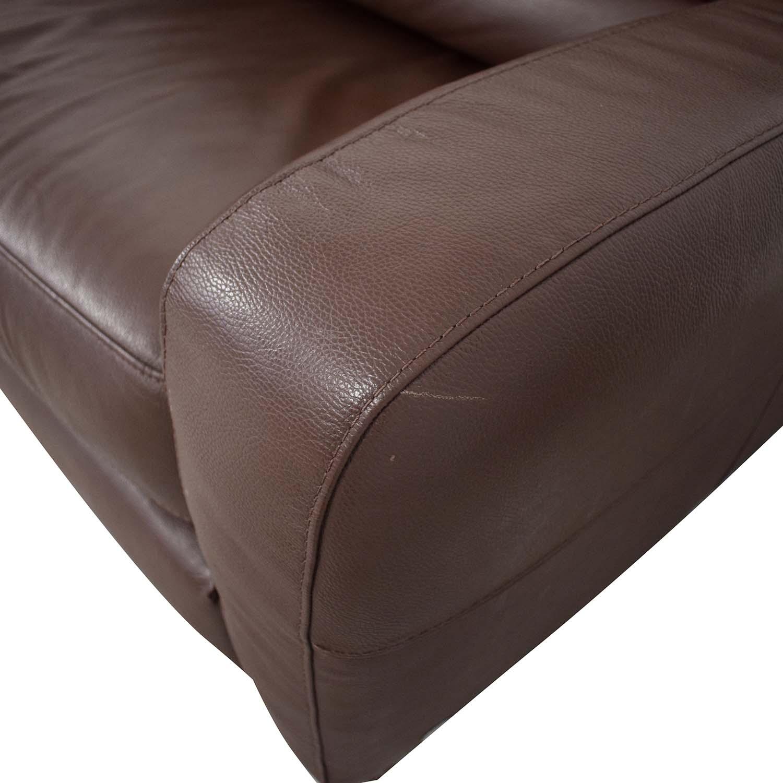 shop Natuzzi Roya Chaise Sectional Sofa Bed Natuzzi Sectionals