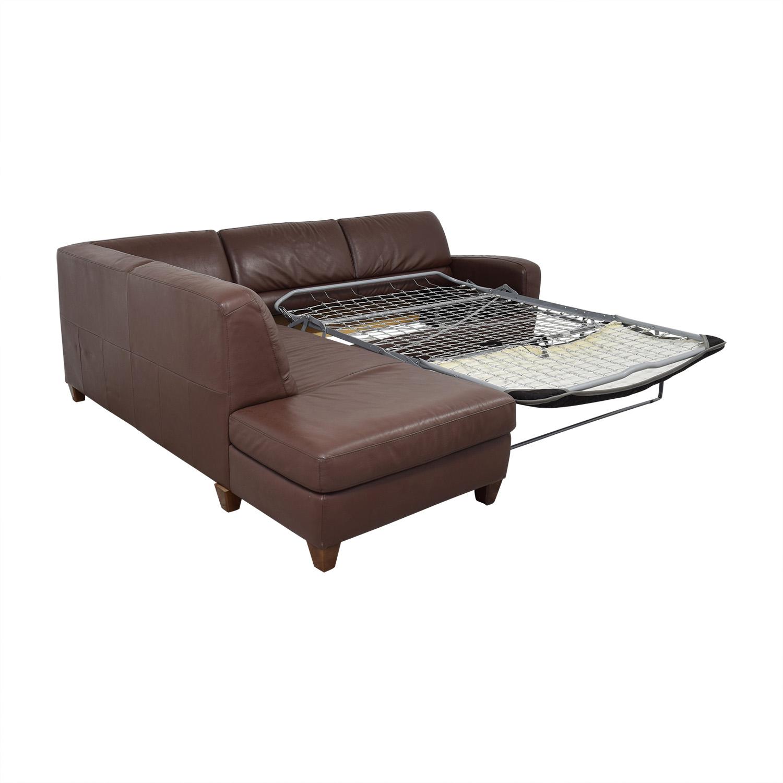 buy Natuzzi Natuzzi Roya Chaise Sectional Sofa Bed online