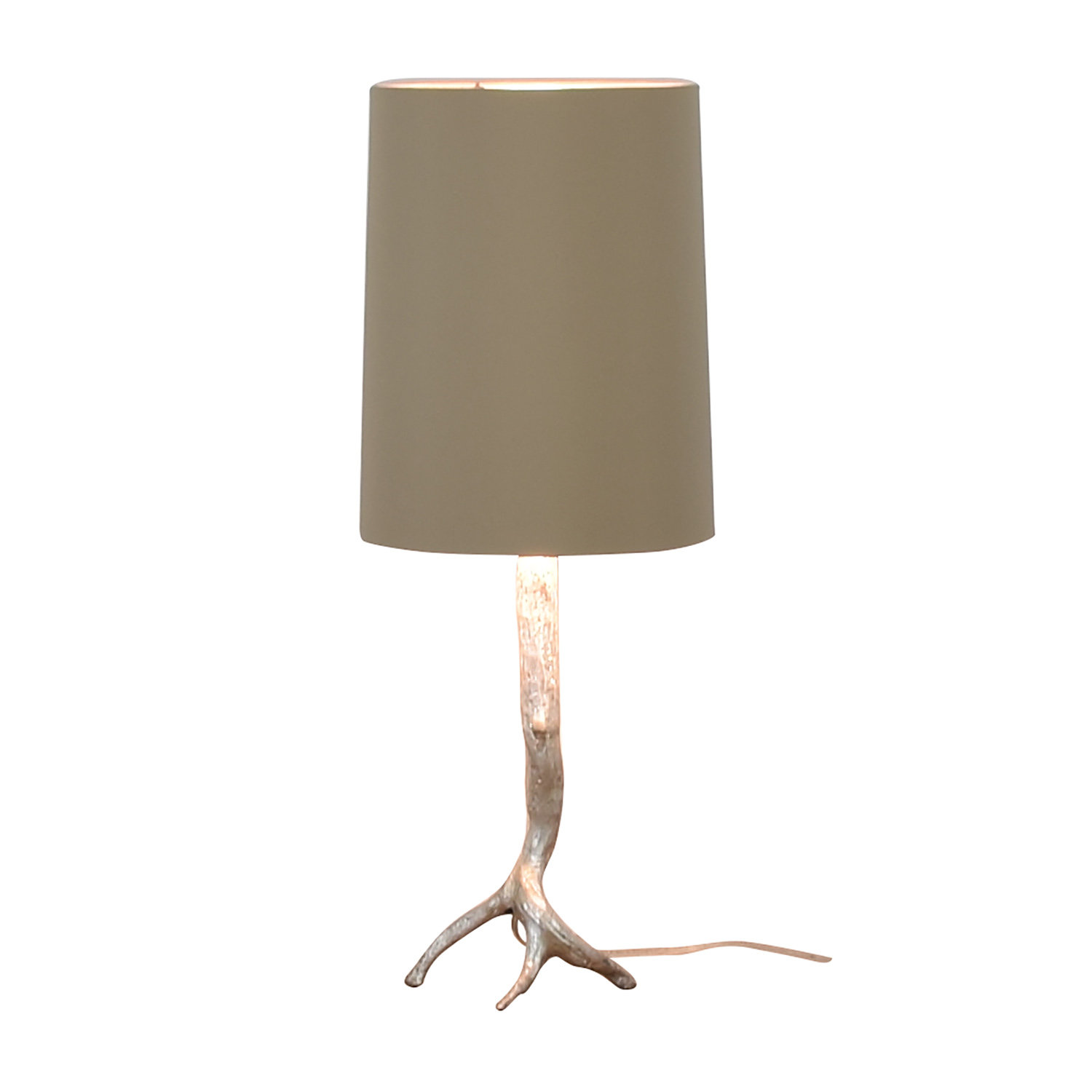 Visual Comfort Visual Comfort Silver Tree Base Table Lamp used