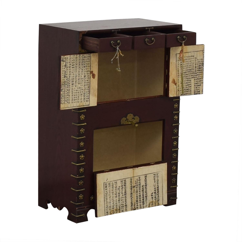 Oriental Decorative Cabinet dimensions