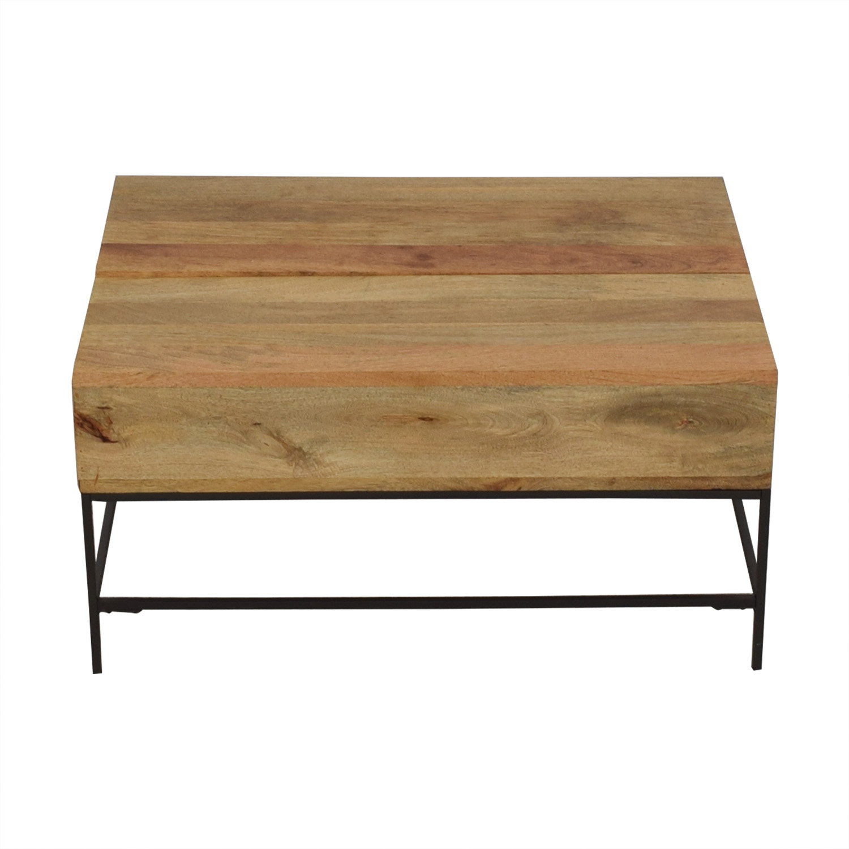 West Elm West Elm Industrial Storage Pop-Up Table discount