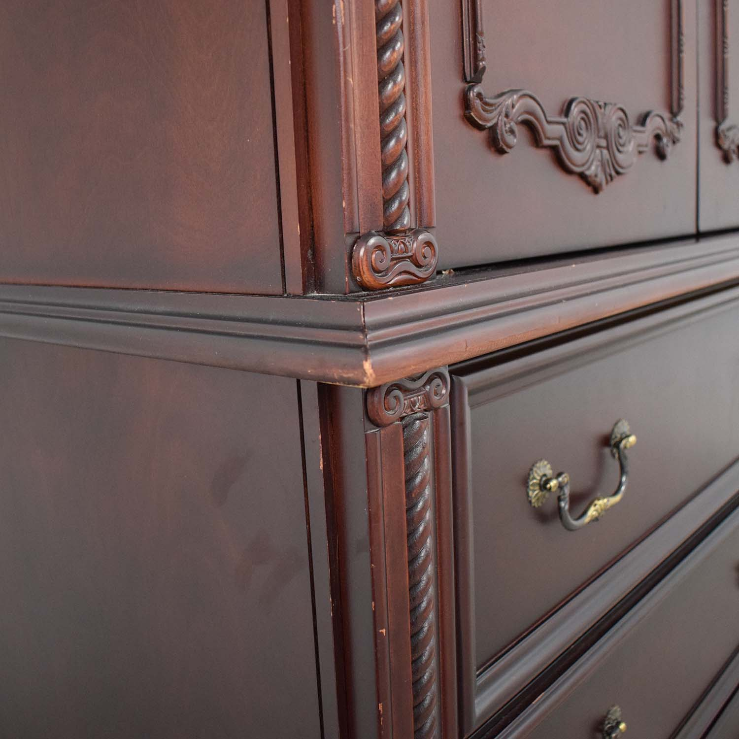 Tall Armoire with Three Drawers nyc