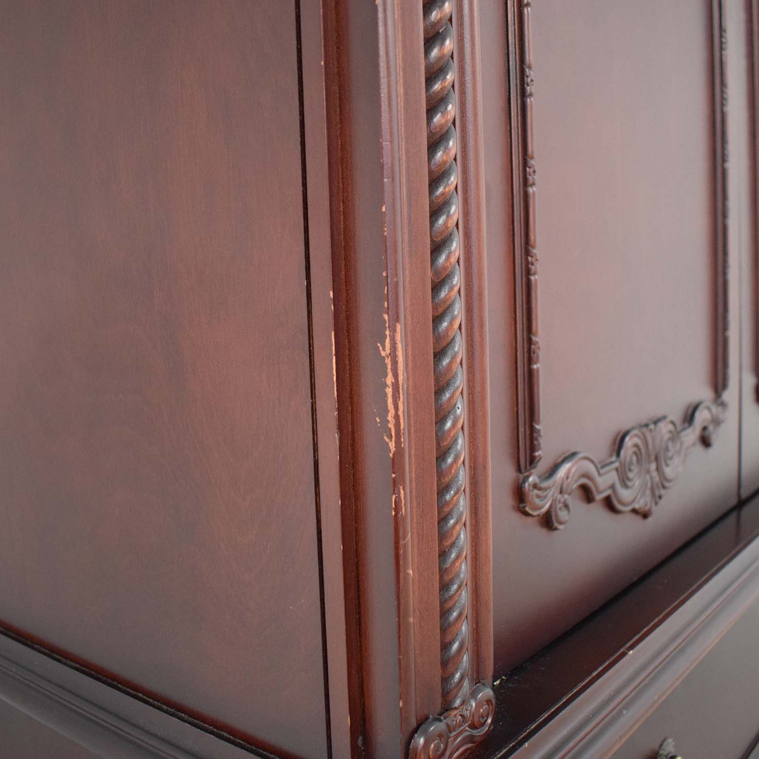 Tall Armoire with Three Drawers coupon