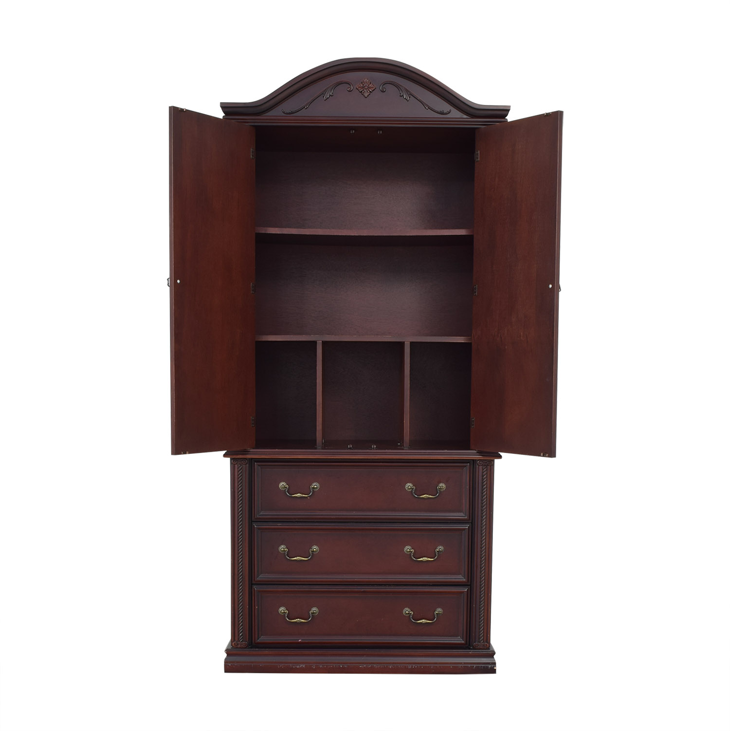 buy Tall Armoire with Three Drawers  Wardrobes & Armoires