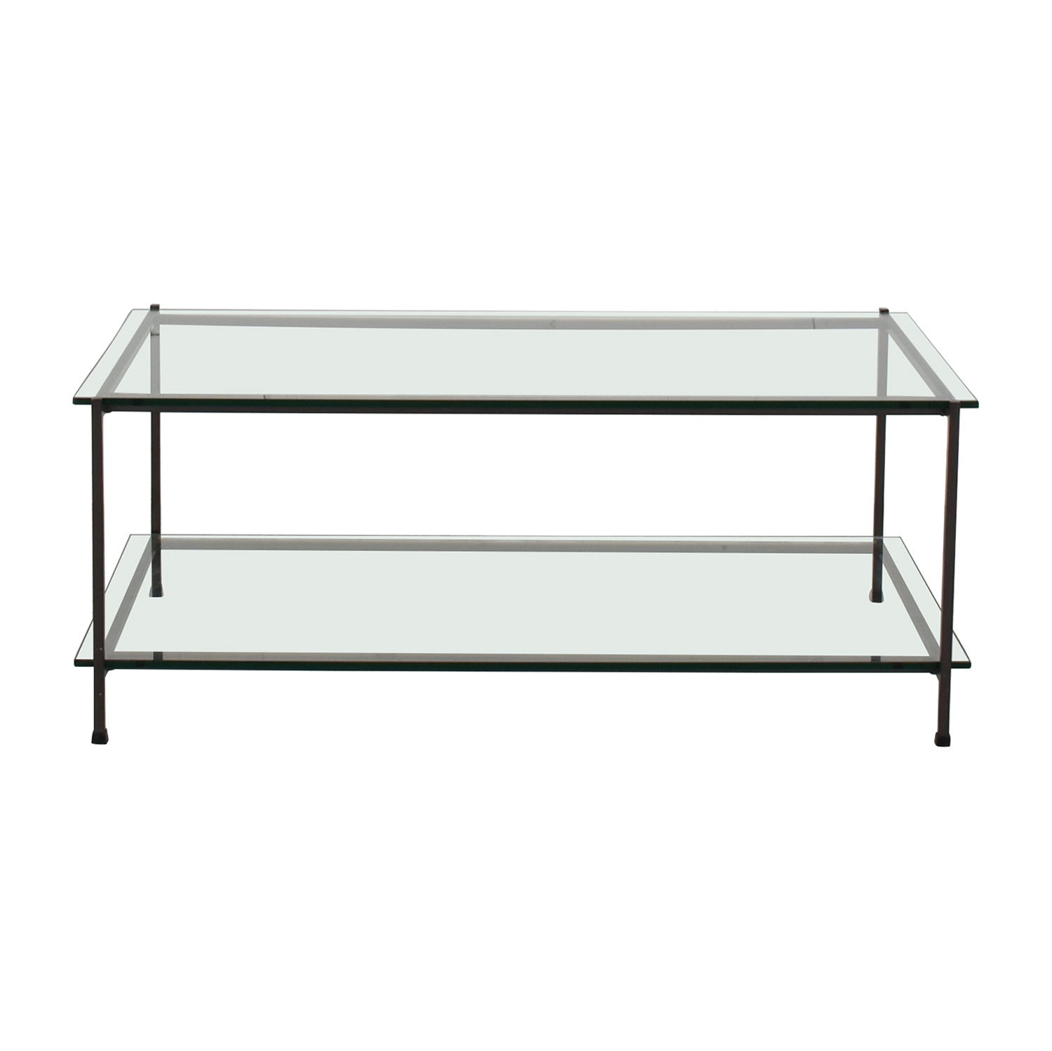 West Elm West Elm Glass Coffee Table