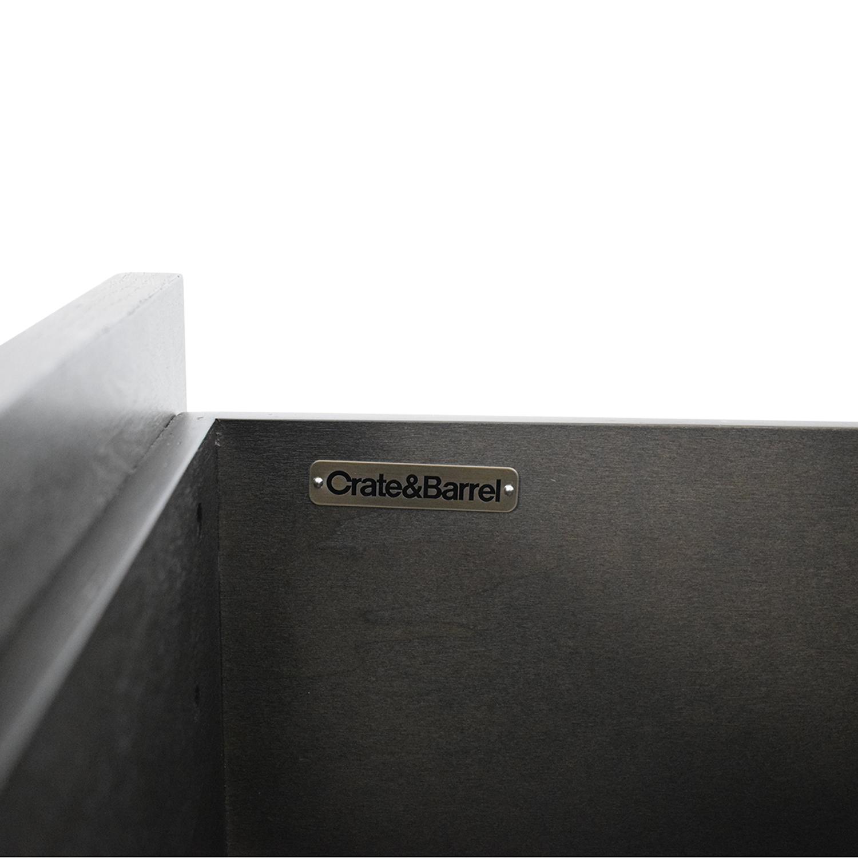 buy Crate & Barrel Barnes Smoke Brown Wardrobe Crate & Barrel Dressers