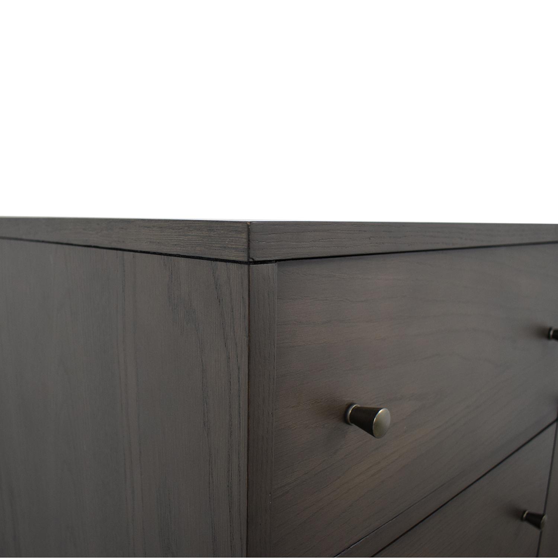 buy Crate & Barrel Barnes Smoke Brown Wardrobe Crate & Barrel Storage
