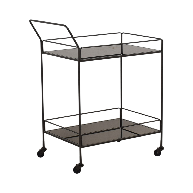 64% OFF - Crate & Barrel Crate & Barrel Bar Cart / Tables